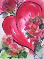 Ich schenke dir mein Herz - Valentinstag-Grußkarte
