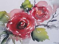 Rosen - Valentinstag-Grußkarte