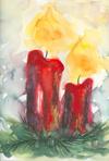 Kerzen - Weihnachtskarte