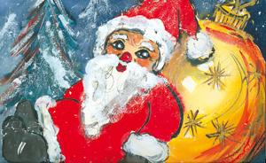 Weihnachtsmann - Weihnachtskarte