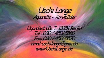 die alte Visitenkarte von Uschi Lange